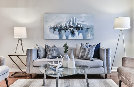 Well Furnished Living Room - Home Staging Services Vaughan by Impressive Staging
