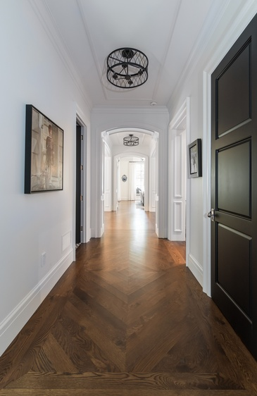 Long Narrow Hallway - Interior Design Services  by Oakville Architecture Firm - John Willmott Architect, Inc.