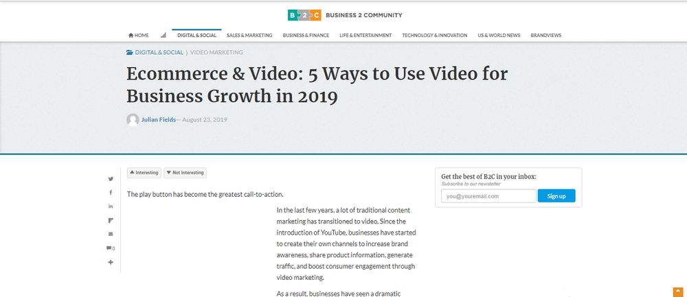 Ecommerce   Video  5 Ways to Use Video for Business Growth in 2019 - Business 2 Community.png