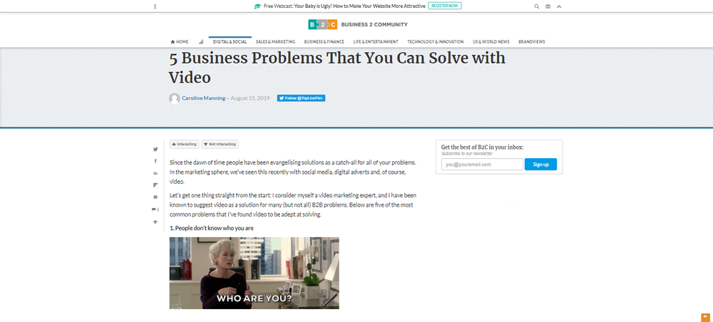 5 Business Problems That You Can Solve with Video - Business 2 Community.png