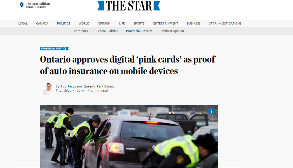 Ontario approves digital 'pink cards' as proof of auto insurance on mobile devices   The Star.png