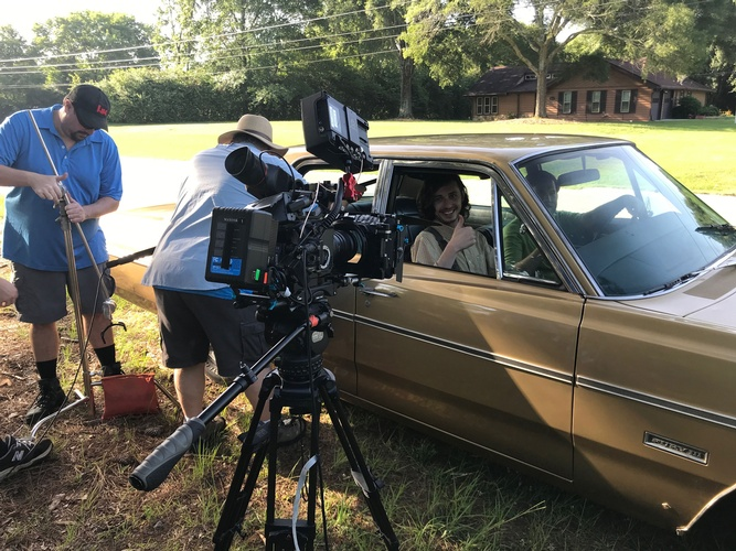 4L Films - Film Production Company Atlanta GA during a car scene
