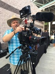 Wes Llewellyn - Filmmaker in Atlanta shooting a Film Scene