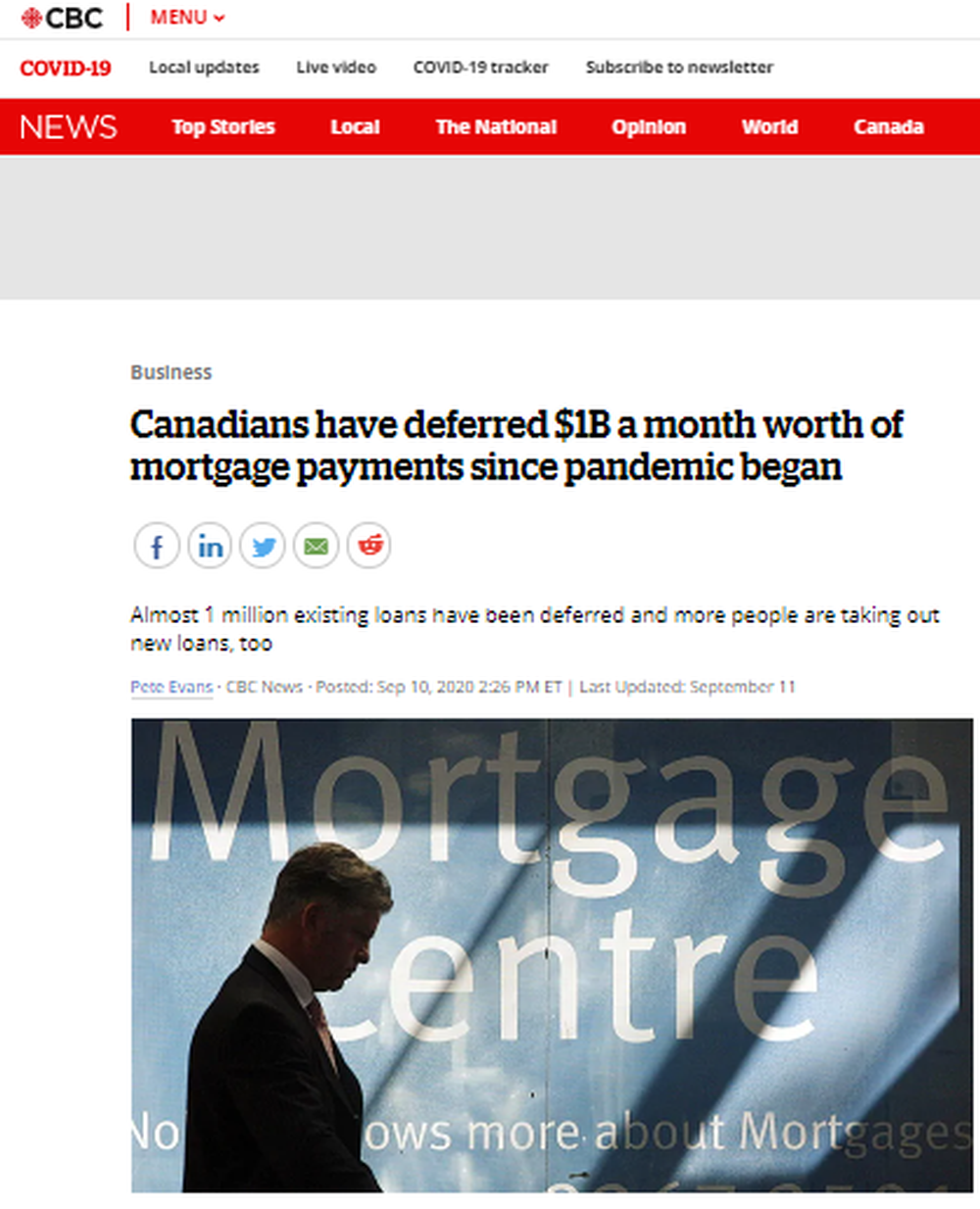 Canadians have deferred $1B a month worth of mortgage payments since pandemic began