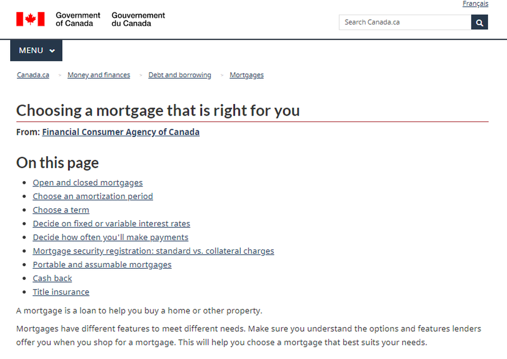 Choosing a mortgage that is right for you