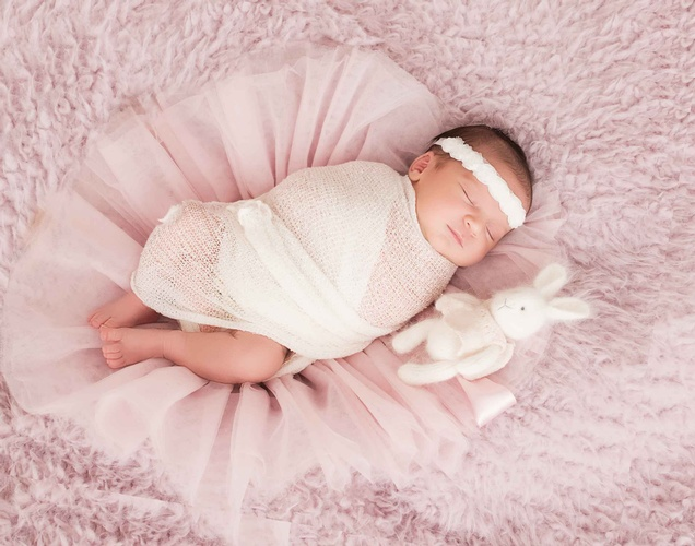 Newborn Baby with Soft Toy - Eve Parisa Photography