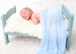 Cute Baby Sleeping on Prop Bed - Newborn Photography Port Coquitlam by Eve Parisa