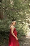 Pregnant Lady in Beautiful Red Gown - Maternity Photography Burnaby by Eve Parisa