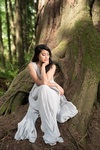 Beautiful Lady in White Gown - Portrait Photography by Lifestyle Photographer in Port Coquitlam