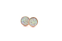 Irredescent Rose Gold Fine Sparkle Druzy