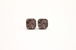 Rose Gold Square Druzy