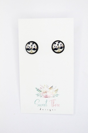 Sweet three design - Baby Panda Earrings