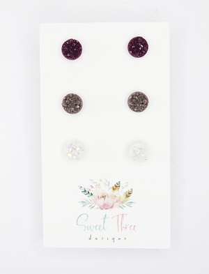 Sweet Three Designs - Mini Druzy Trio 4