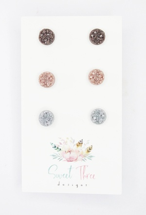 Sweet Three Designs - Mini Druzy Trio 3
