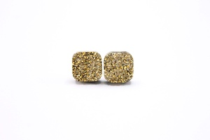 Sweet Three Designs - Gold Square Druzy