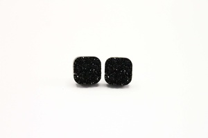 Sweet Three Designs - Black Square Druzy