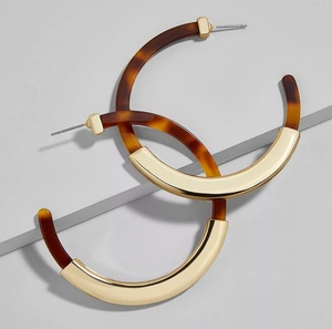 Sweet Three Designs - Tortoise Shell Hampton Hoop Earrings