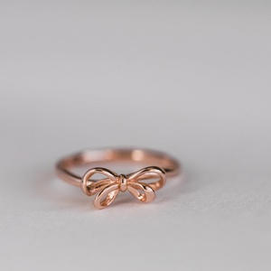 Sweet Three Designs - Rose Gold Bow Ring