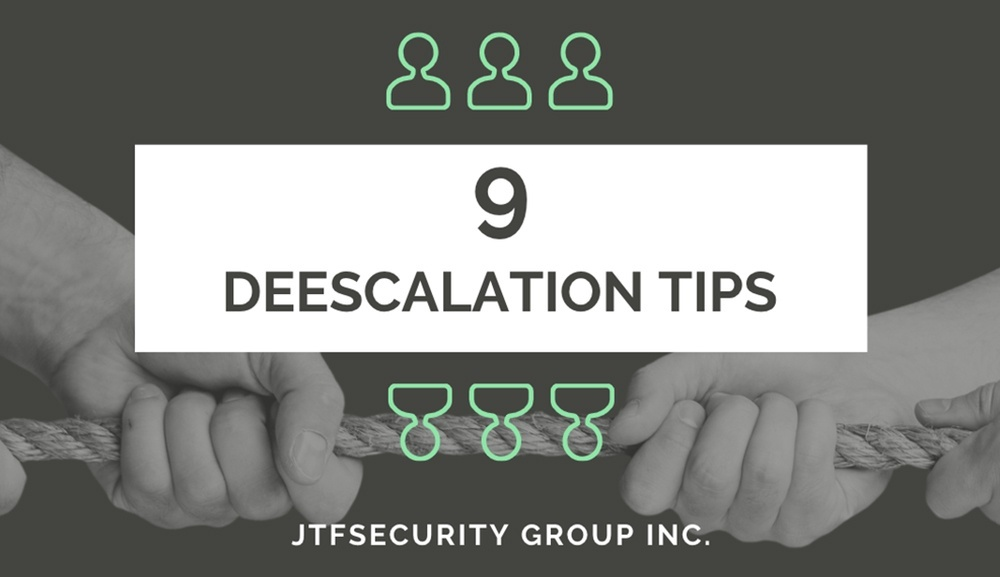 9 Deescalation Tips from JTFSecurity Group
