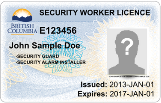 New security license look in British Columbia