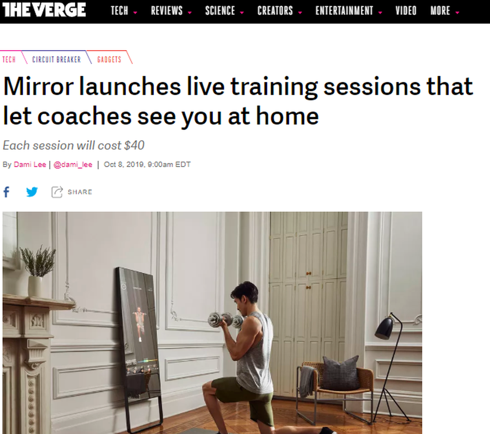 Mirror launches live training sessions that let coaches see you at home - The Verge.png
