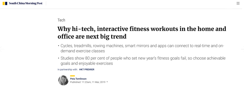 Why hi-tech  interactive fitness workouts in the home and office are next big trend   South China Morning Post.png