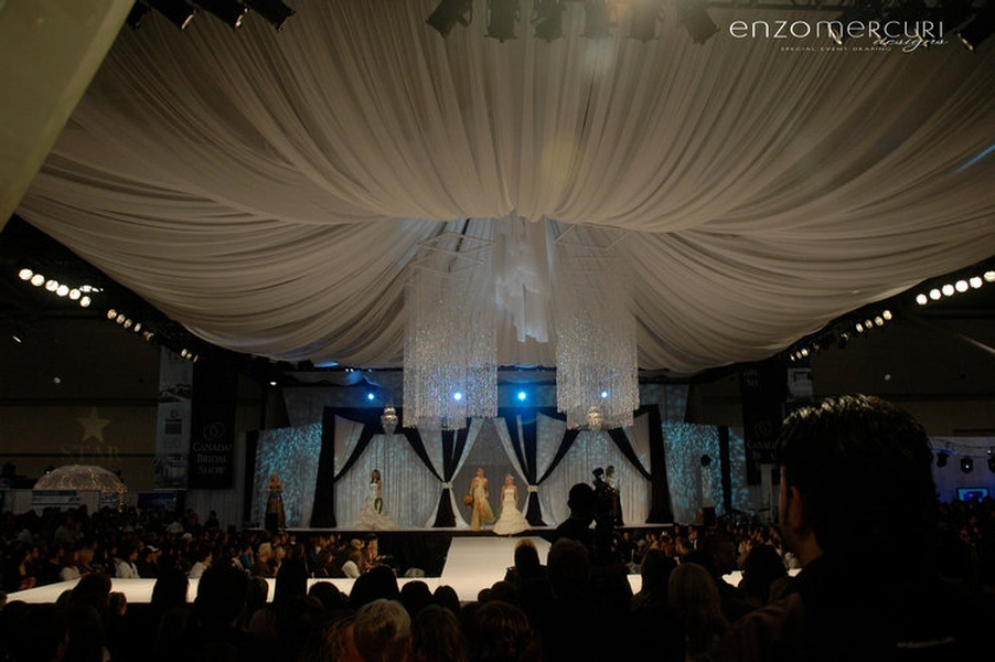 Corporate Event Ceiling Draping by Enzo Mercuri Designs Inc.