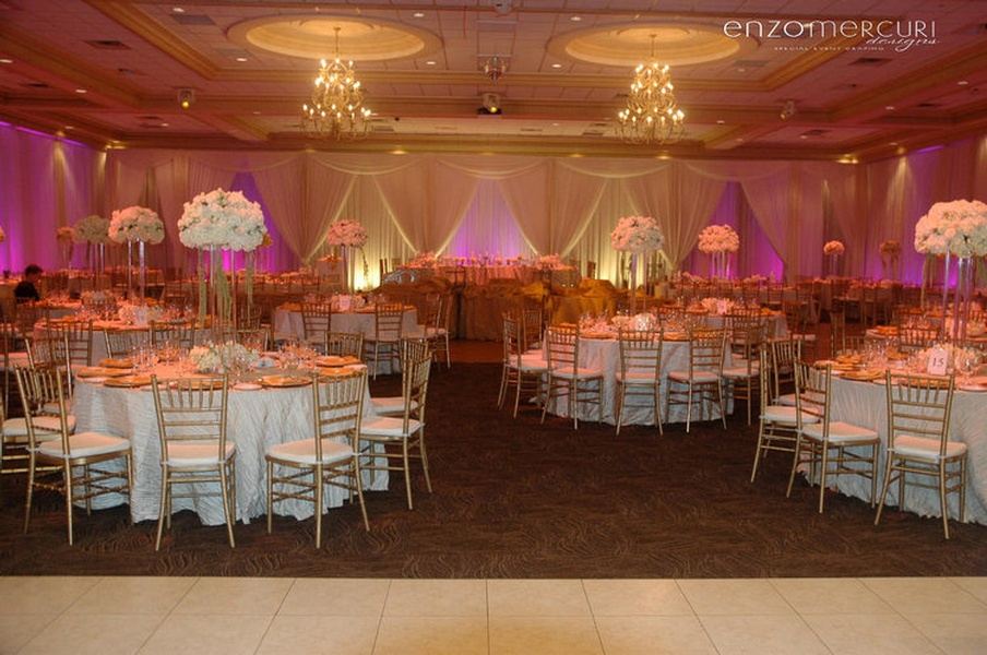 Indoor Wedding Reception by Enzo Mercuri Designs Inc.