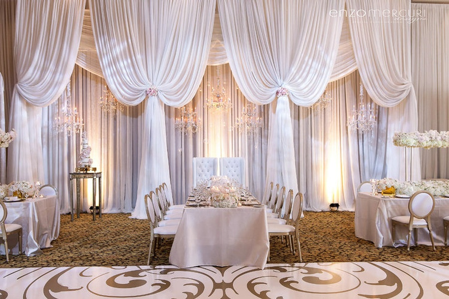 Draping for Wedding Reception by Enzo Mercuri Designs Inc. - Event Decor Company North York