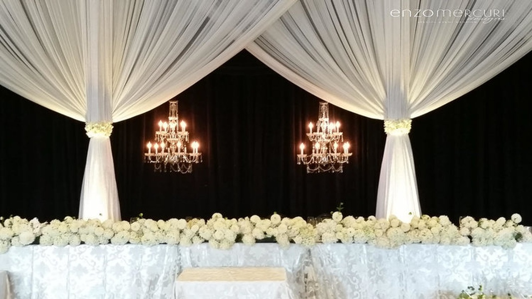 Elegant Head Table Backdrop by Enzo Mercuri Designs Inc.