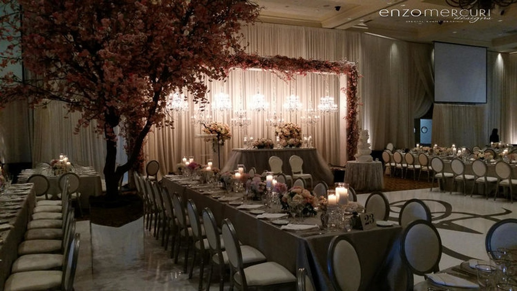 Wedding Reception Backdrop by Enzo Mercuri Designs Inc.