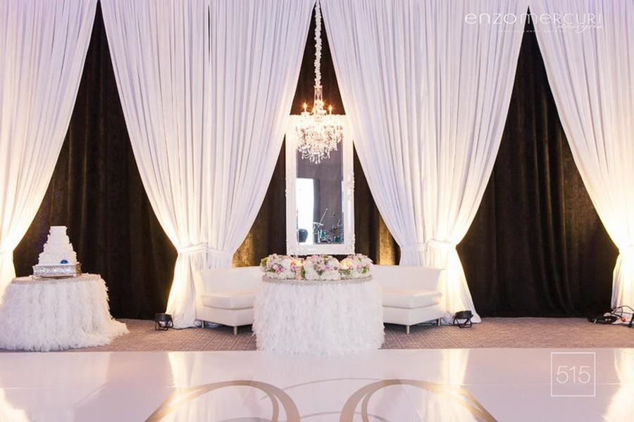 Wedding Reception Drapery Hamilton by Enzo Mercuri Designs Inc.