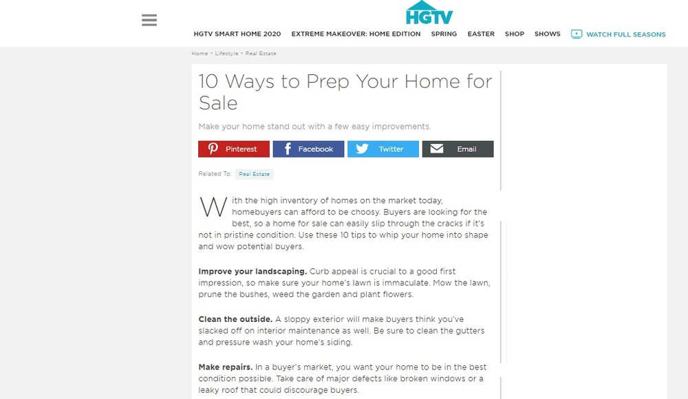 10 Ways to Prep Your Home for Sale   HGTV.jpg