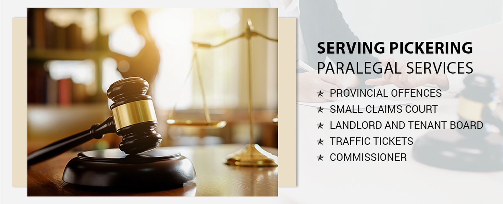 Paralegal services in Pickering