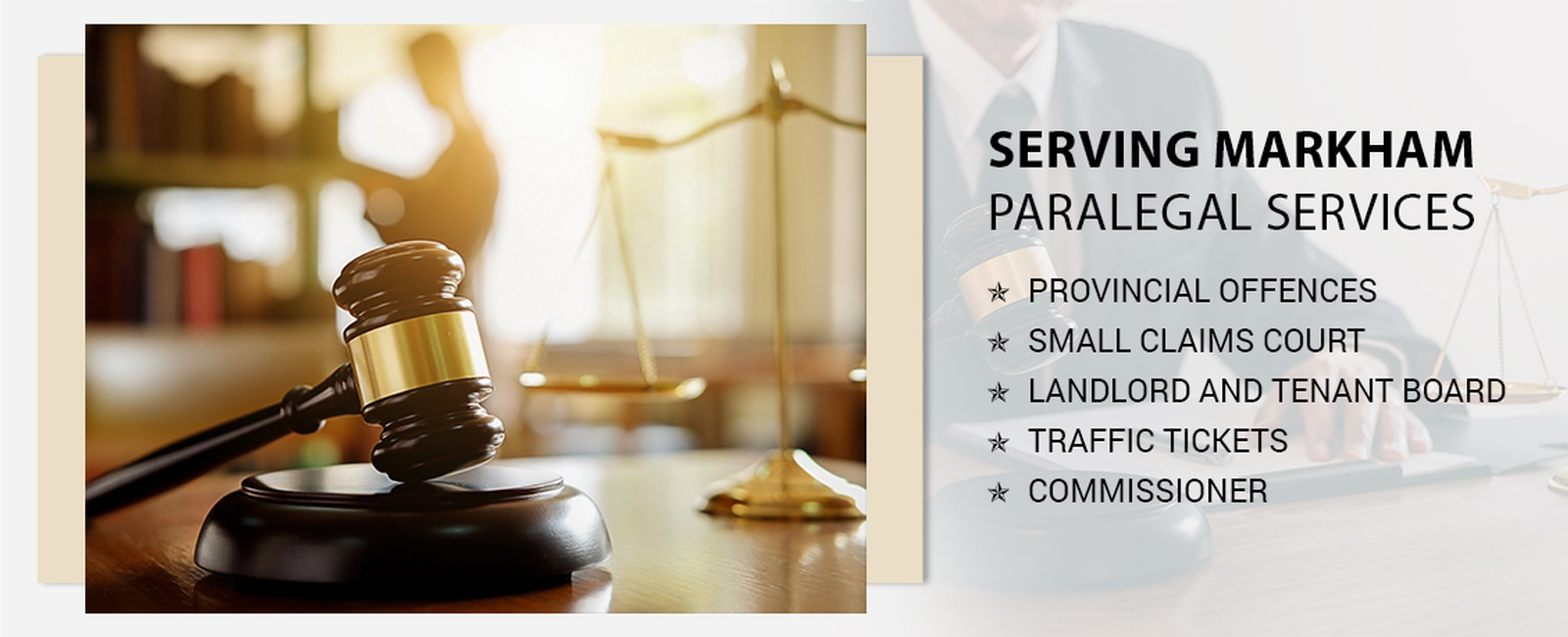 Paralegal services in Markham