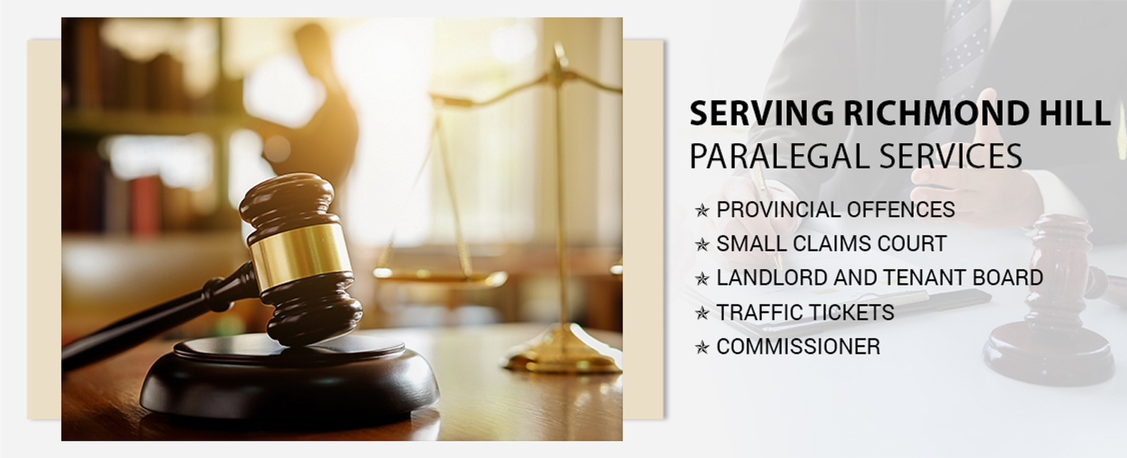 Paralegal services in Richmond Hill