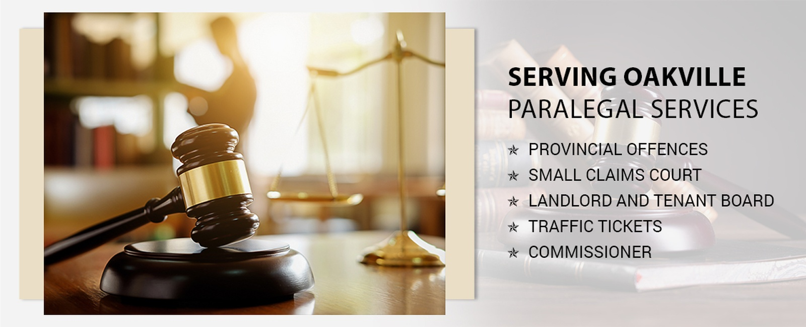 Paralegal services in Oakville