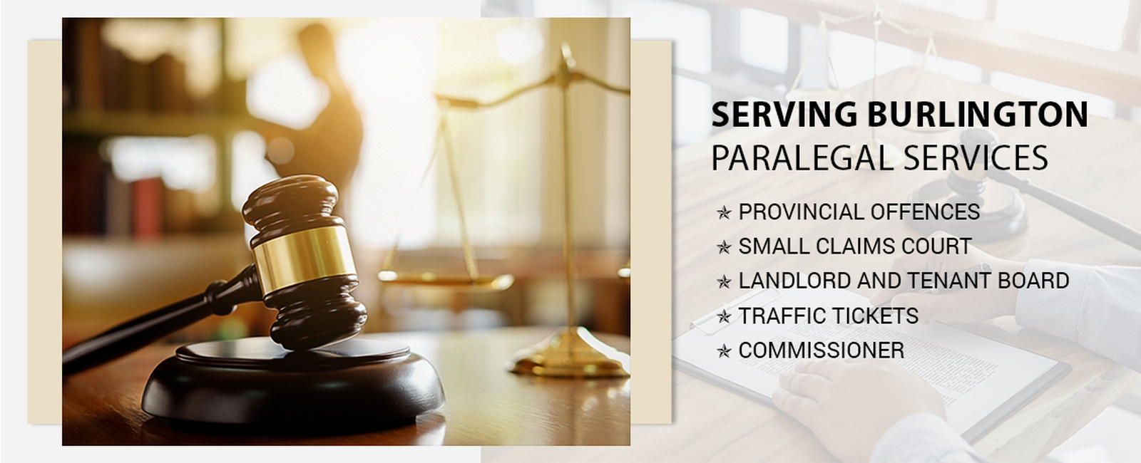 Paralegal services in Burlington