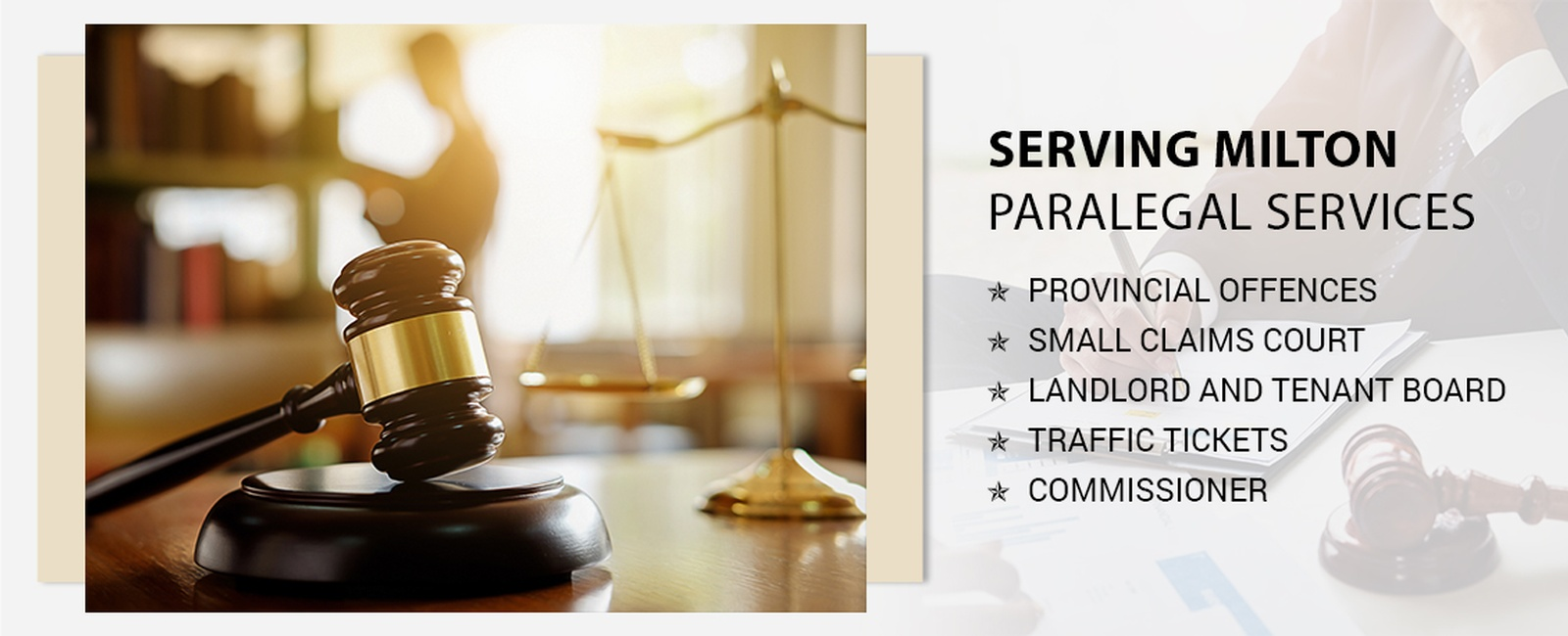 Paralegal services in Milton
