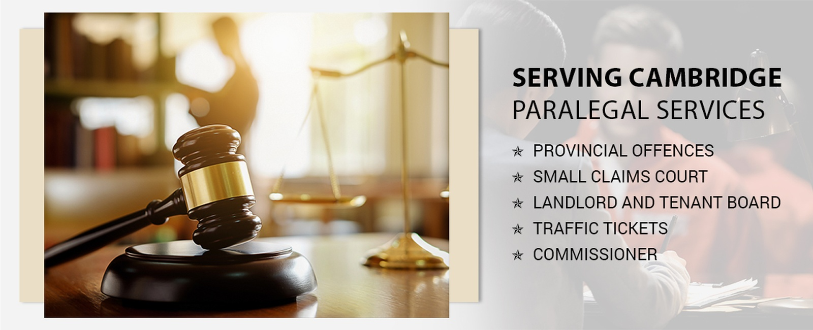 Paralegal services in Cambridge