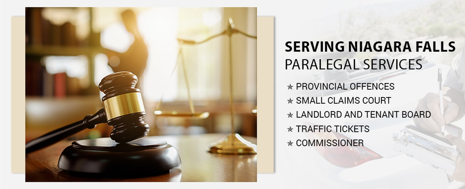Paralegal services in Niagara Falls