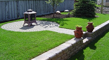 Lawn Care Services Beaverlodge by Brick, Rock and Block Landscaping
