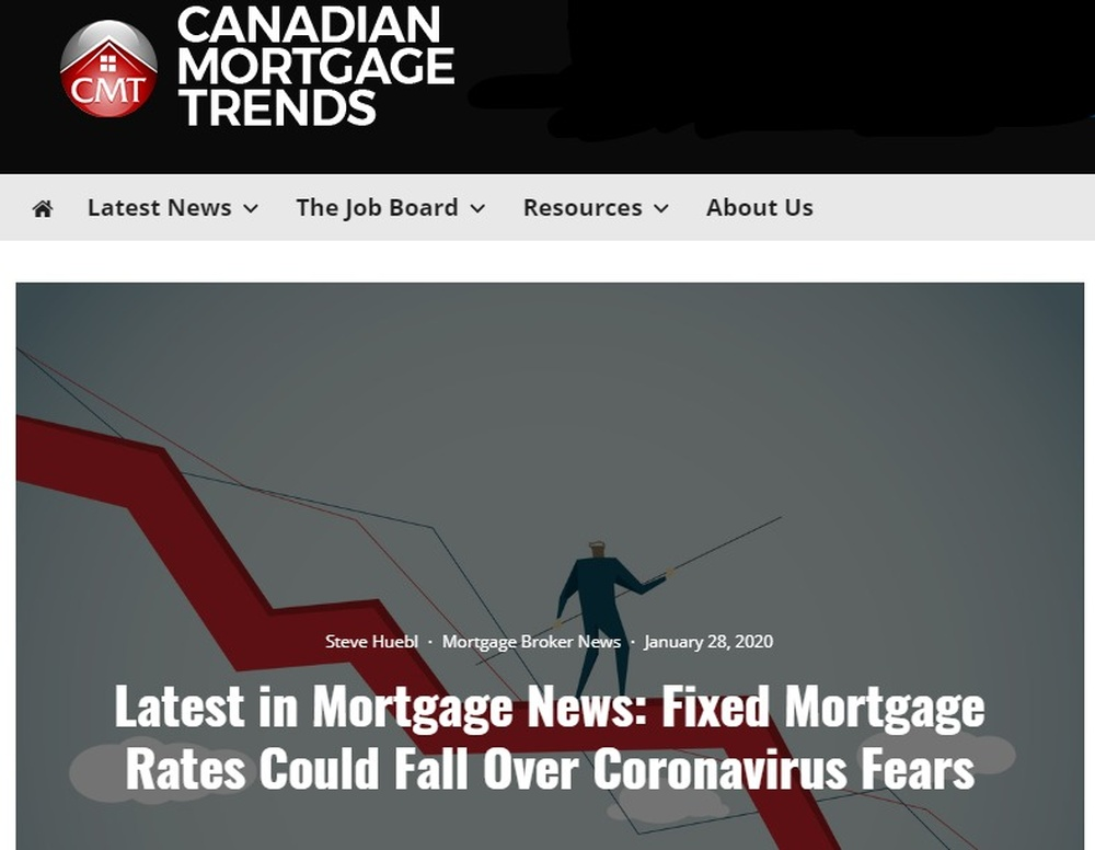 Latest in Mortgage News  Fixed Mortgage Rates Could Fall Over Coronavirus Fears - Mortgage Rates   Mortgage Broker News in Canada.jpg