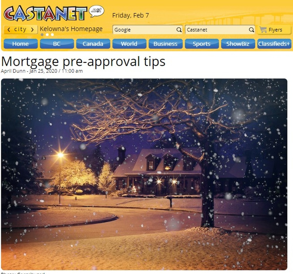 Mortgage pre-approval tips - Mortgage Matters - Castanet net.jpg