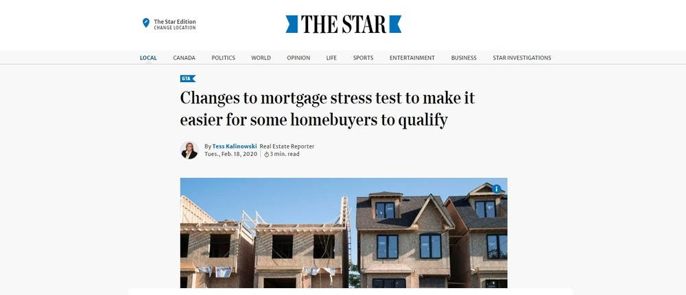 Changes to mortgage stress test to make it easier for some homebuyers to qualify   The Star.jpg