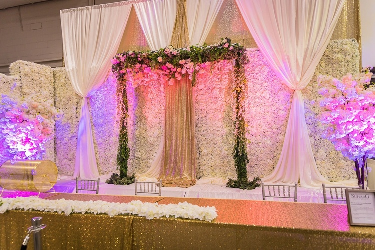Gorgeous Floral Wedding Backdrop by OMG DECOR - Wedding Decor Toronto