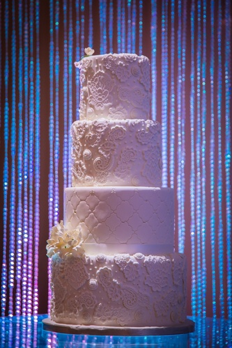 White Lace Wedding Cake - Wedding Decor Ottawa by OMG DECOR