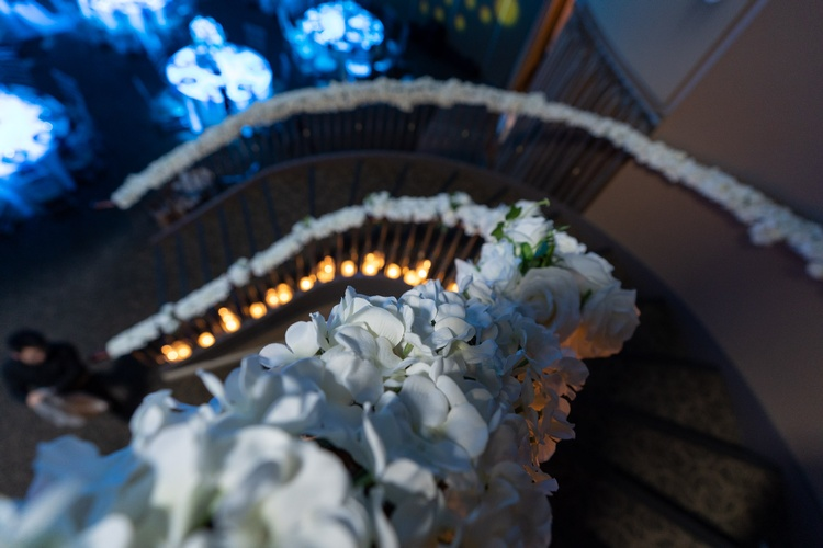 Floral Decoration for Staircase Rails by OMG DECOR - Wedding Decoration Services Toronto ON
