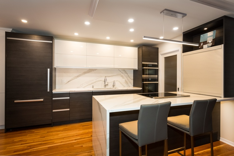 Contemporary Kitchen Renovation Westboro by BEAULIEU DESIGN