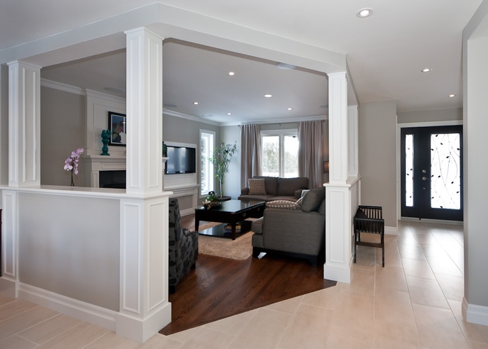 Transitional Living Room Interior Design Kanata by BEAULIEU DESIGN